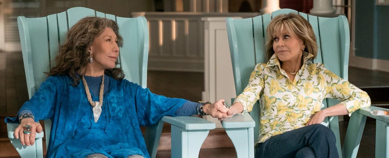 """Lily Tomlin und Jane Fonda sind """"Grace und Frankie"""" – Bild: Ali Goldstein / Netflix"""