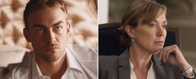 """""""Marvel's Helstrom"""": Tom Austen (l.) und Elizabeth Marvel (r.) übernehmen Hauptrollen in der neuen Hulu-Serie – Bild: E!/Showtime"""