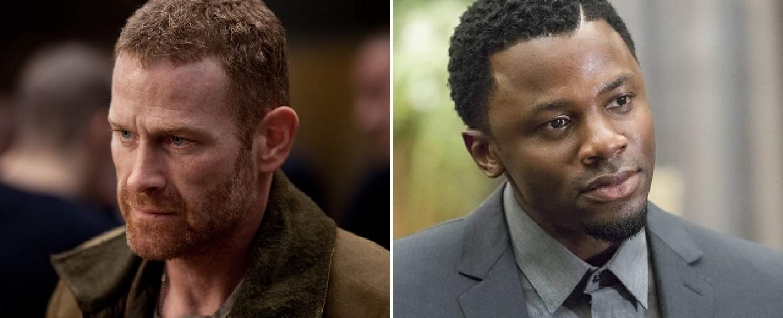 """Max Martini (l.) und Derek Luke (r.) verstärken die zweite Staffel von """"The Purge"""" – Bild: Warner Bros/FOX"""