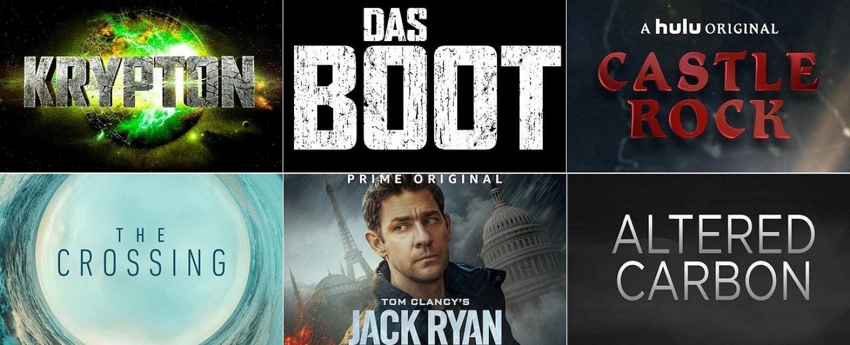 Die neuen Serien 2018 - Von SciFi bis Comic, von Network bis Mini – Ausblick auf die Serienhoffnungen der kommenden Monate – Bild: Syfy, Sky, Hulu, ABC, Amazon, Netflix