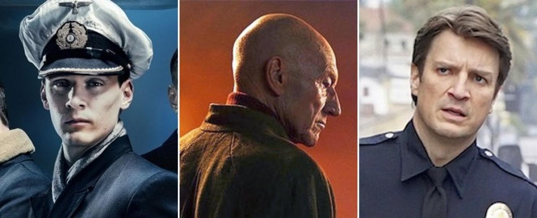 """Neue Serienhelden im Januar in """"Das Boot"""", """"Star Trek: Picard"""" und """"The Rookie"""" – Bild: Sky, CBS All Access, ABC"""