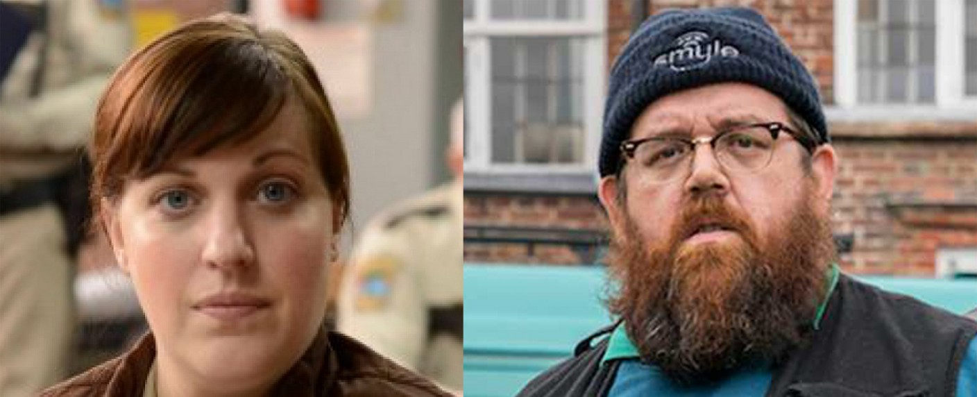 "Allison Tolman (""Fargo"") und Nick Frost (""Truth Seekers"") in ""Why Women Kill"" dabei. – Bild: Netflix/Amazon Prime Video"