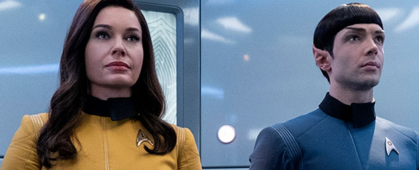 "Number One (Rebecca Romijn) und Spock (Ethan Peck) in ""Star Trek: Short Treks"" – Bild: CBS All Access"