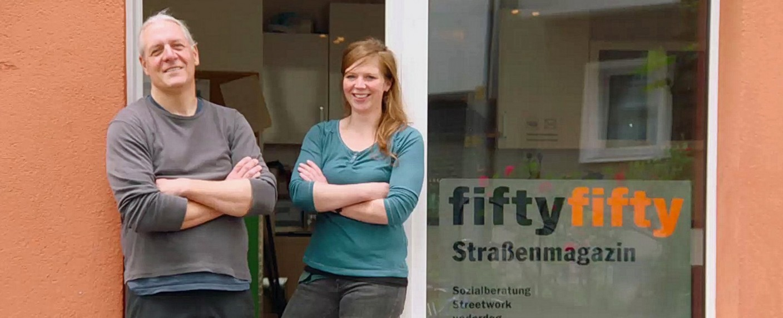 """""""Obdachlos – Einzug in ein neues Leben"""": Die Streetworker Oliver Ongaro und Julia von Lindern – Bild: TVNOW"""