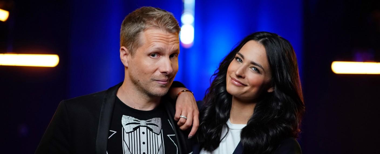 Oliver und Amira Pocher – Bild: TVNOW/Stefan Gregorowuis