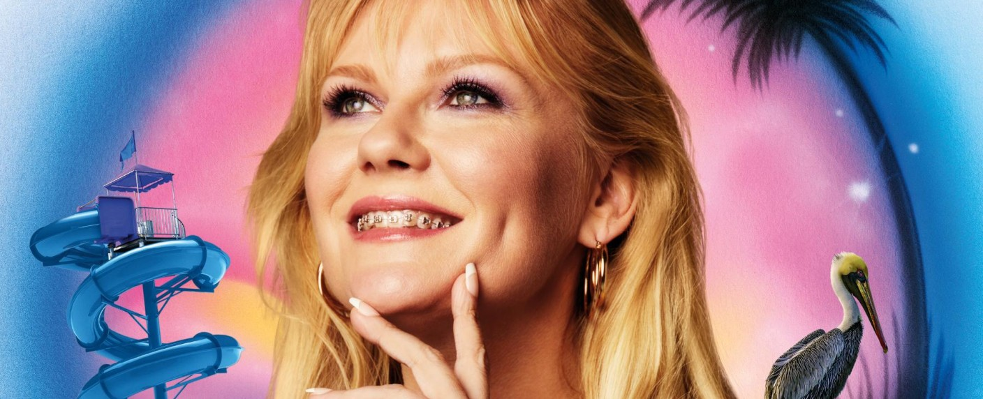 """On Becoming A God In Central Florida"": Krystal Stubbs (Kirsten Dunst) zwischen Mindestlohnjob im Wasserpark, Pelikan-Plage und dem Traum von einer besseren Zukunft – Bild: Showtime"