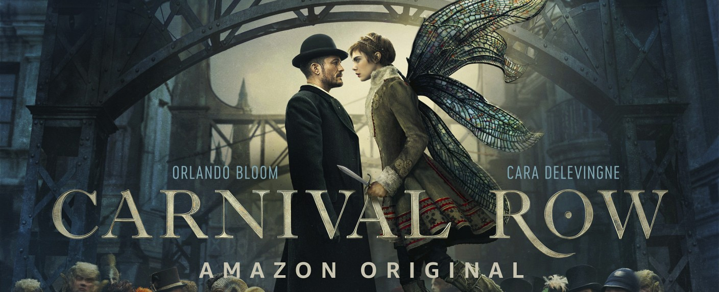 "Orlando Bloom und Cara Delevingne in ""Carnival Row"" – Bild: Amazon/Prime Video"