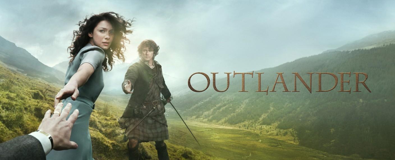 """Ausschnitt aus dem Poster zur ersten Staffel von """"Outlander"""" – Bild: RTL Passion"""