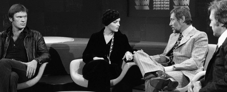 """Romy Schneider zu Gast bei """"Je später der Abend"""" im Jahr 1974 – Bild: WDR"""
