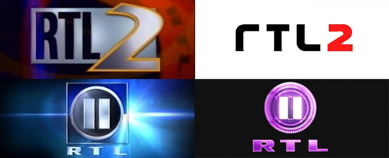 RTL II-Logos in den Jahren 1993, 1996, 1999 und 2011