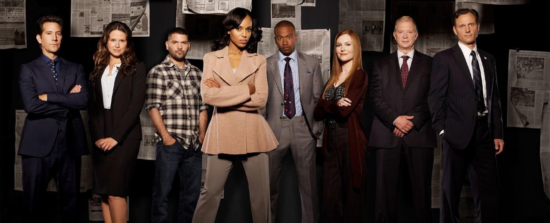 """Olivia Pope (Kerry Washington, 4. v. l.) und ihr Team – Bild: TVNOW / ABC Studios"