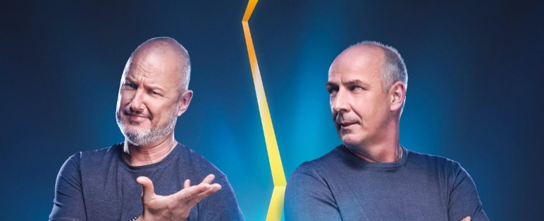 """""""Schlag den Star"""": Frank Rosin (l.) gegen Mario Basler – Bild: ProSieben/Steffen Z Wolff"""