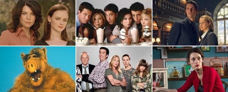 """Serienunterhaltung gegen Corona-Frust: Wir schlagen unter anderem """"Gilmore Girls"""", """"Friends"""", """"A Discovery of Witches"""", """"ALF"""", """"Pastewka"""" oder """"Fleabag"""" vor. – Bild: Netflix, Prime Video, Sky"""