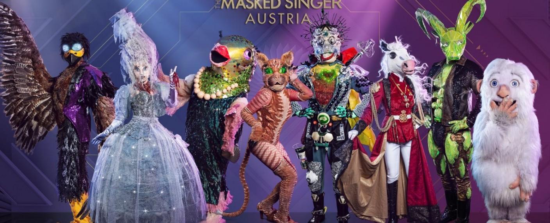 """So sehen die Kostüme bei """"The Masked Singer Austria"""" aus – Bild: Puls 4"""