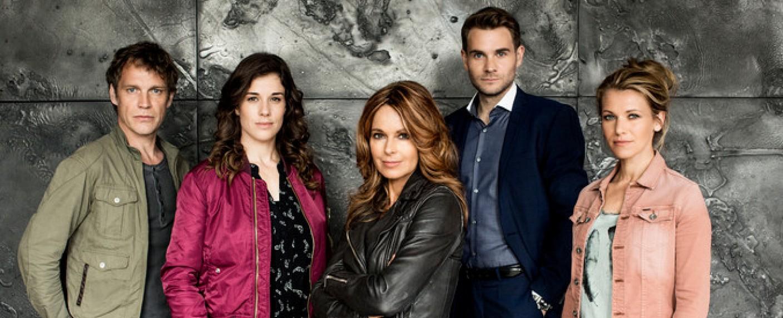 """Das Team der """"SOKO Köln"""" in Staffel 14 mit der neuen Chefin Christina Plate (M.) – Bild: ZDF / Laion"""