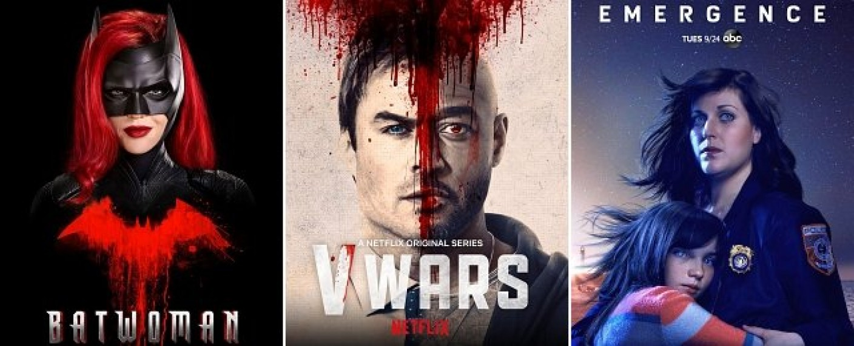"""Starten im Dezember: """"Batwoman"""" bei Prime Video, """"V Wars"""" bei Netflix und """"Emergence"""" beim FOX Channel – Bild: Prime Video, Netflix, FOX Channel"""