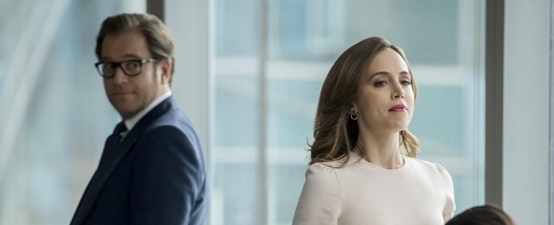 "Szenenbild: Eliza Dushku und Michael Weatherly (l.) in ""Bull"" – Bild: CBS"