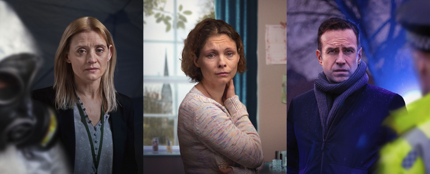 """The Salisbury Poisonings"": Anne-Marie Duff, MyAnna Buring und Rafe Spall – Bild: BBC one"