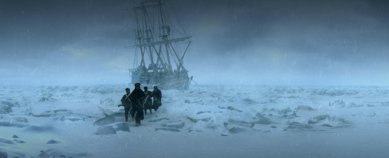 """""""The Terror"""": Ein Fußtrupp erkundet das Eis – Bild: AMC"""