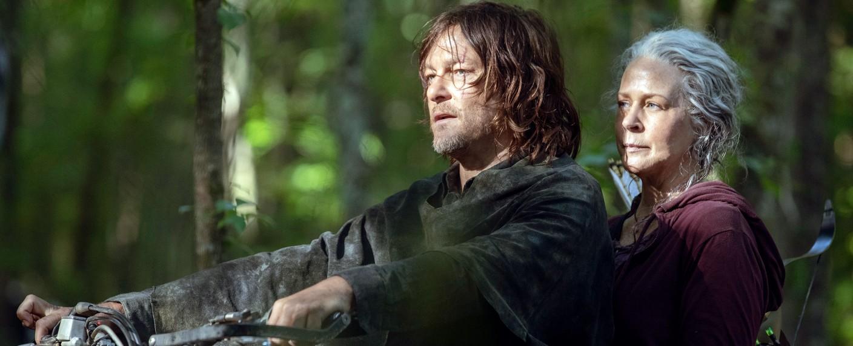 """""""The Walking Dead"""": Daryl (Norman Reedus) und Carol (Melissa McBride) in der zehnten Staffel – Bild: Jackson Lee Davis/AMC"""