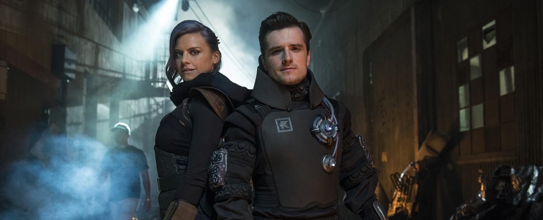 """Tiger (Eliza Coupe) und Josh (Josh Hutcherson) in """"Future Man"""" – Bild: Hulu"""