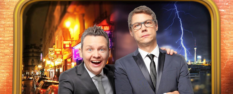 """Tobias Mann (l.) und Christoph Sieber in """"Mann, Sieber!"""" – Bild: ZDF/Frank W. Hempel"""