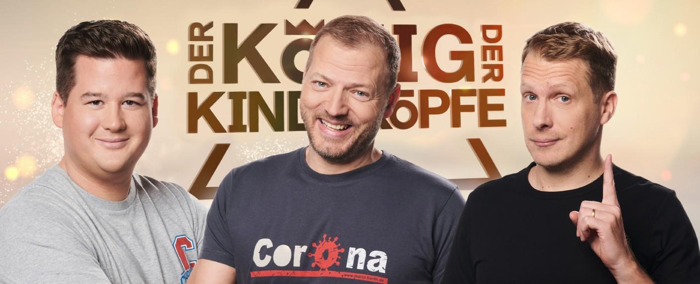 """Wer ist """"Der König der Kindsköpfe""""?: Chris Tall, Mario Barth oder Oliver Pocher? – Bild: TVNOW/Ruprecht Stempell"""