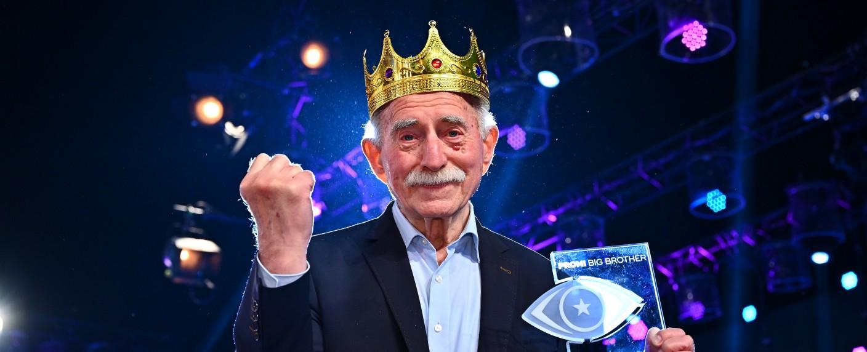 """Werner Hansch gewinnt das """"Promi Big Brother""""-Finale 2020 – Bild: SAT.1/Willi Weber"""