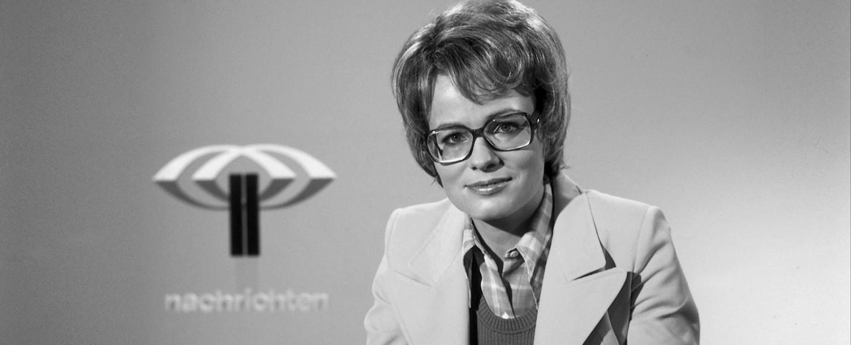 """Wibke Bruhns war die erste """"heute""""-Nachrichtensprecherin – Bild: ZDF/Renate Schäfer"""
