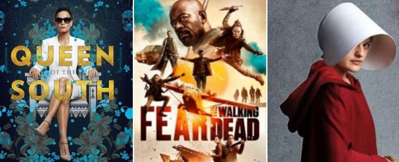"""Wo bleiben die neuen Staffeln von """"Queen of the South"""", """"Fear the Walking Dead"""" oder """"The Handmaid's Tale""""? – Bild: USA Network, AMC, hulu"""