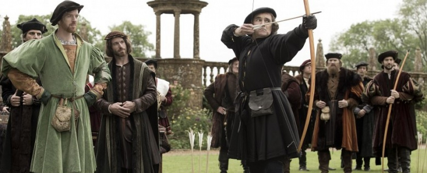 "Damian Lewis (l.) und Mark Rylance in ""Wolf Hall"" – Bild: BBC two"