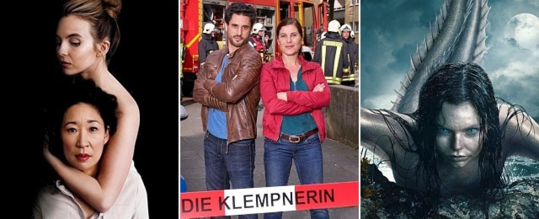 """Zu den Februar-Highlights gehören unter anderem """"Killing Eve"""", """"Die Klempnerin"""" und """"Mysterious Mermaids"""" – Bild: Starzplay/ MG RTL D; Frank Dicks/ ProSieben"""