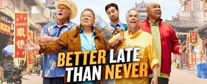 """""""Besser spät als nie"""": DMAX zeigt Asien-Reise von William Shatner und Co – Vier prominente Senioren bereisen erstmalig Asien – Bild: NBC"""