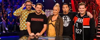 """""""Big Blöff"""": Sat.1 startet neue Show für den Fun Freitag – Tall, Ceylan, Panzer und Rütter blöffen – Bild: Sat.1/Willi Weber"""