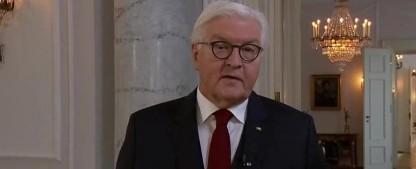 Corona: Steinmeier hält Fernsehansprache – Sat.1 verlängert Corona-Berichterstattung bis Ende April – Bild: ARD/Screenshot