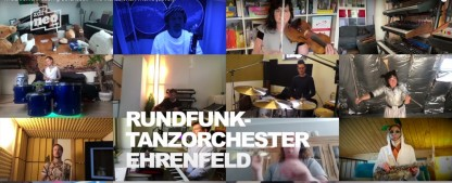 """Das """"Rundfunk-Tanzorchester Ehrenfeld"""" ist für uns da – mit der """"Mandalorian""""-Titelmusik – Musiker des """"NEO Magazin Royale"""" überbrücken die Corona-Zeit kreativ – Bild: ZDF"""