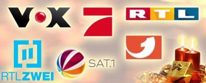 Was läuft bei RTL, Sat.1, ProSieben und Co. an Weihnachten und Silvester? – Das Festtagsprogramm der großen Privatsender im Überblick