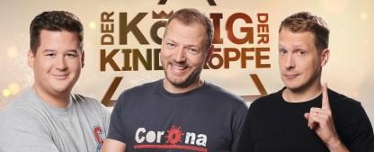 """""""Der König der Kindsköpfe"""": Barth, Pocher und Tall battlen sich im Dezember live bei RTL – Neue Spielshow auf ungewohntem Sendeplatz – Bild: TVNOW/Ruprecht Stempell"""