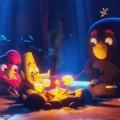 """""""Angry Birds"""" kommen als neue Animationsserie zu Netflix – Red, Bomb und Chuck im Sommercamp – © Netflix/Rovio"""