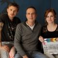 """""""Die Abrechnung"""": Drehstart für ZDF-Zweiteiler zur Schlecker-Pleite – Florian Lukas und Josefine Preuß stehen vor der Kamera – © ZDF / Hans Joachim Pfeiffer"""