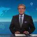 """Jan Hofer muss kurzfristig donnerstägliche """"Tagesthemen"""" verlassen – Caren Miosga springt für erkrankten Kollegen ein – Bild: ARD Aktuell (Screenshot)"""