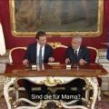 """ORF-Untertitel-Panne: Regierungsantritt wie in einer Telenovela – """"Wie würdest du dieses Küken nennen?"""" – © ORF/Screenshot"""