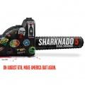 """""""Sharknado"""": Fünfter Teil bekommt Untertitel und Starttermin – Syfy unter dem Motto """"Make America Bait Again"""" – Bild: Syfy"""
