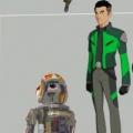 """""""Star Wars: Resistance"""": Erster Blick auf die Protagonisten der neuen Animationsserie – Kaz und die Mitglieder von """"Team Fireball"""" – Bild: Lucasfilm"""