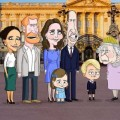 """Royals werden in satirischer Animationsserie """"The Prince"""" aufs Korn genommen – Die britische Königsfamilie aus der Sicht des designierten Thronfolgers – © HBO Max"""