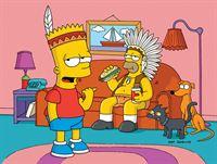"""""""Die Simpsons"""", """"Auf dem Kriegspfad."""" Bart und Millhouse werden bei einem Einbruch in Ned Flanders Haus erwischt. Als Strafe muss Bart sich der einem Indianerstamm nachempfundenen 'Vor-Teenager-Truppe' anschließen. Obwohl Marge zum Häuptling gewählt wird, kann sie nicht verhindern, dass es bald zu einer Auseinandersetzung mit einer anderen Kindertruppe kommt. – Bild: ORF eins"""