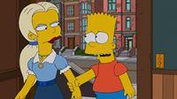 Auf Anraten von Direktor Skinner schickt Marge Bart (r.) zur Musikschule. Der hat so gar keine Lust auf den Unterricht, doch dann trifft er auf die junge russische Klavierlehrerin Zhenya (l.) ... – Bild: und TM Twentieth Century Fox Film Corporation - Alle Rechte vorbehalten