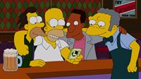 200.000 Dollar! Homer (2.v.l.), Moe (r.), Carl (2.v.r.) und Lenny (l.) können es nicht glauben: Sie haben tatsächlich den Jackpot der wöchentlichen Ziehung der Springfield-Lotterie geknackt ... – Bild: und TM Twentieth Century Fox Film Corporation - Alle Rechte vorbehalten