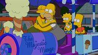 Erleben einen ganz besonderen Hochzeitstag: Marge (l.) und Homer (2.v.l.) mit ihren Kindern Lisa (M.), Maggie (2.v.r.) und Bart (r.) ... – Bild: und TM Twentieth Century Fox Film Corporation - Alle Rechte vorbehalten
