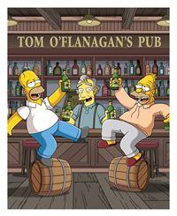 Homer (l.) erfüllt seinem Vater (r.) den sehnlichen Wunsch, noch ein Bier in O'Flanagan's Pub zu trinken. Also machen die Simpsons eine Reise nach Irland. – Bild: und TM Twentieth Century Fox Film Corporation - Alle Rechte vorbehalten